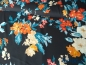 Preview: 0,5m Crepe Georgette Flowers Marine