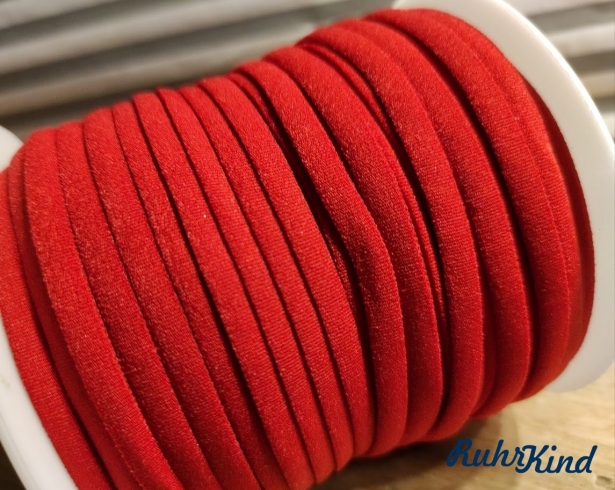 Weiches Gummiband Rot 5mm