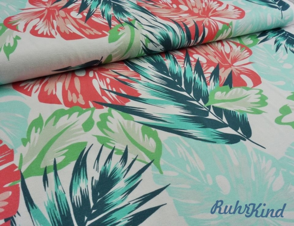 "Viskosejersey ""Tropical Summer"" by RuhrKind"
